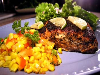 Salmon Recipe : Blackened Salmon